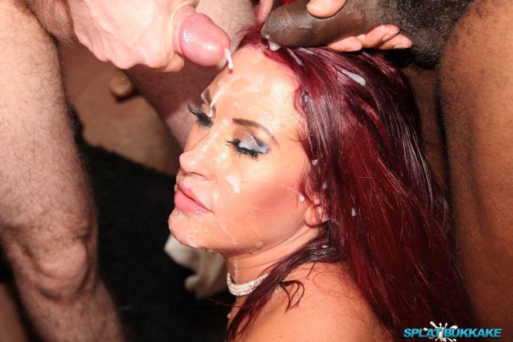 Tyla Moore gets splattered in cum