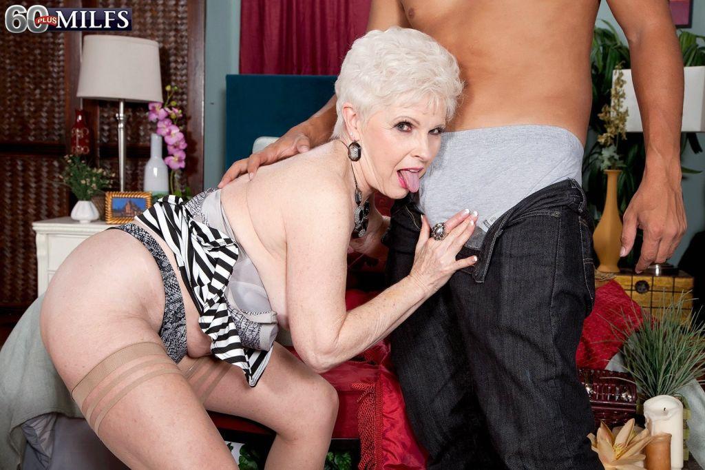 Hoy blonde granny loves hard cocks