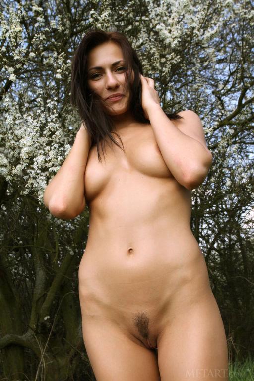 Lovely brunette nude in the sun