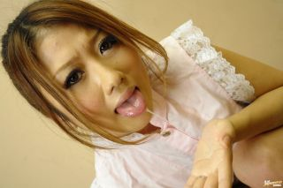Japanese cutie Hibik Ohtsuki sucks a cock till cum