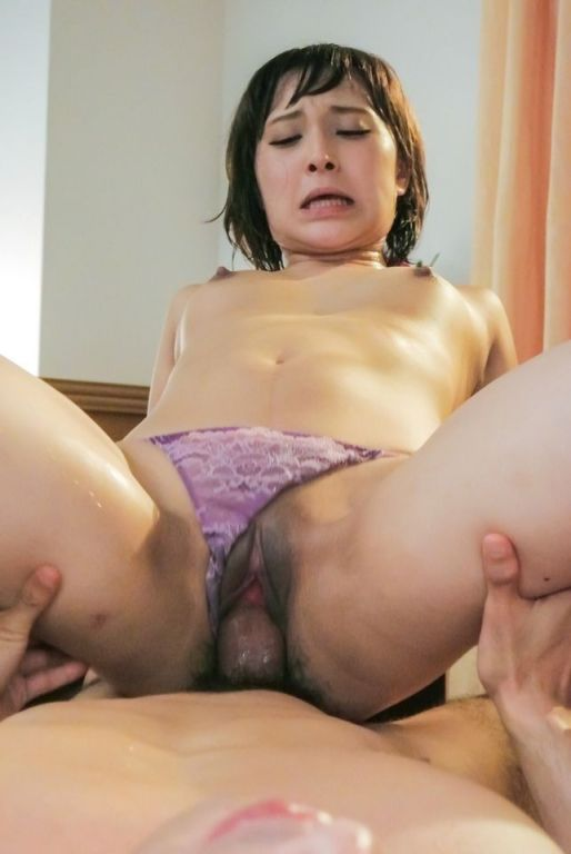 Horny asian Uika Hoshikawa rides a cock and suckin