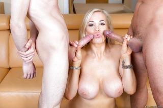 European cougar Rebecca Moore giving younger man's