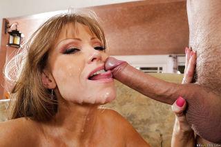 Busty mature woman Darla Crane taking big cock in