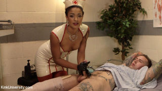 Latex nurse Daisy Ducati and Ruckus give you a pee