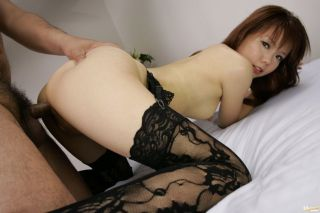 Japanese model Himena Ebihara fucking in stockings