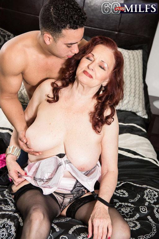 Kinky redhead granny Katherine Merlot