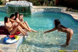 Close up posing of two lesbians Anita Berlusconi a