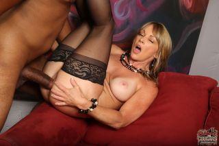 Horny milf Shayla Laveaux enjoys a black cock fuck