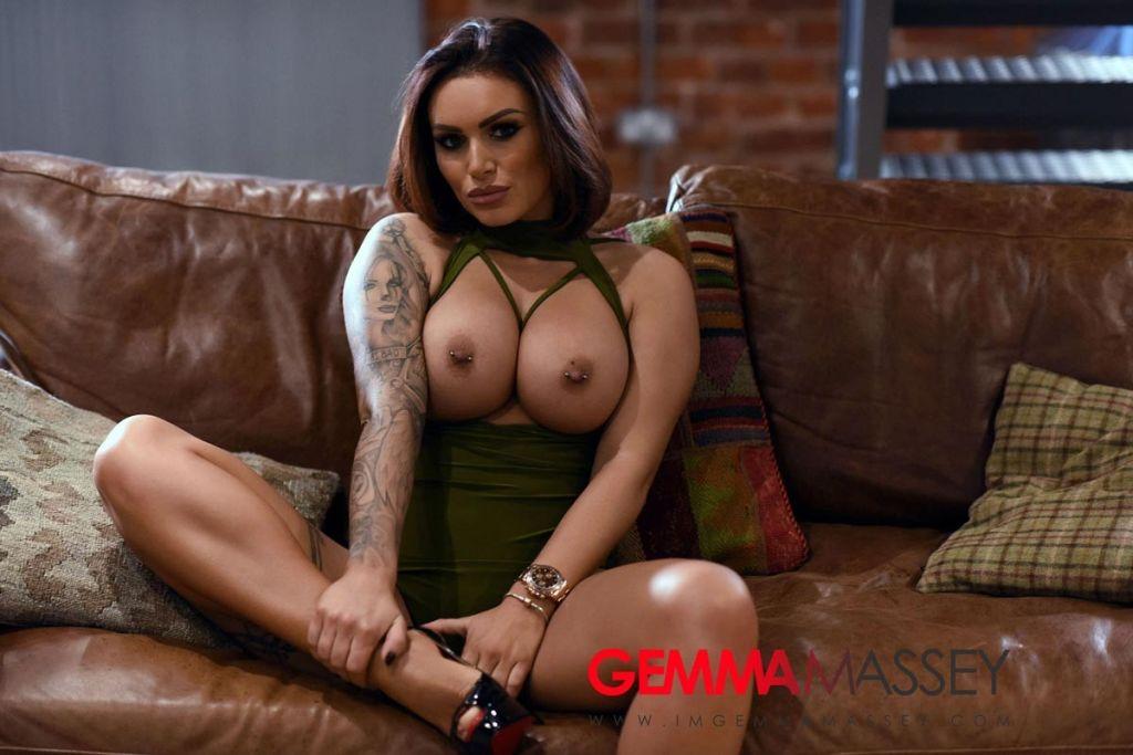 Hot busty brunette in a bodysuit