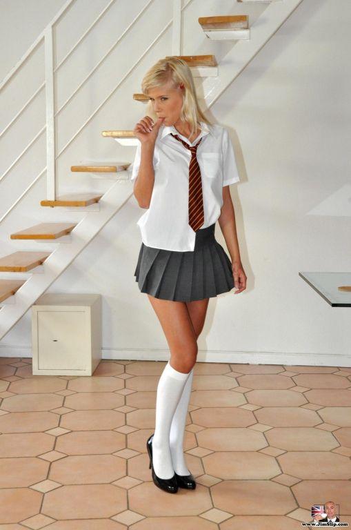 Jim has a naughty school girl in his room longing