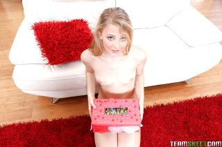 Barely legal blonde Lily Rader taking cumshot afte