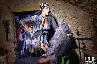 Zombie porn pics in hardcore cosplay uniformed sex