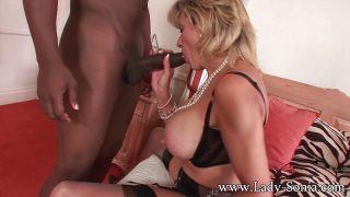 Mature girl Lady Sonia has wild interracial sex wi