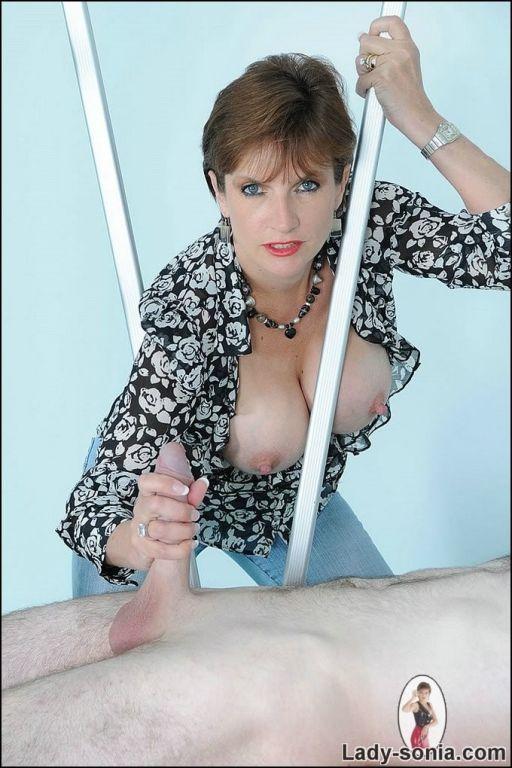 Slutty milf lady gets a huge penis
