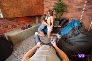 Lita Phoenix in a threesome ffm teen sex with oral