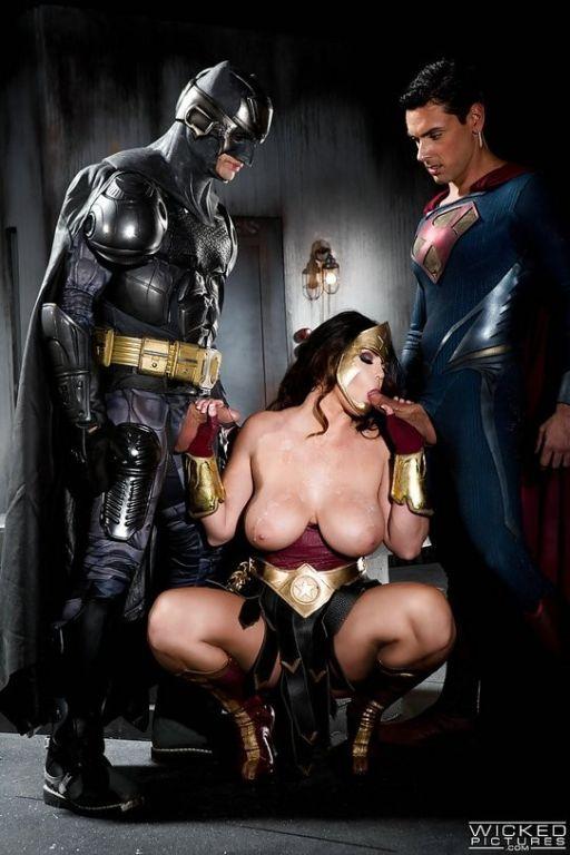 Batman and Superman share super slut Alison Tyler