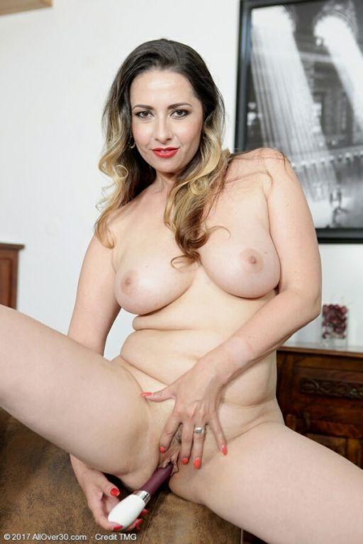 Daria Glower busty milf housewife strips and toyin