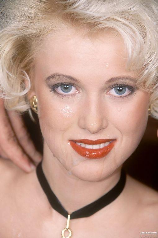 Shy vintage blonde gets gangbanged on snooker tabl