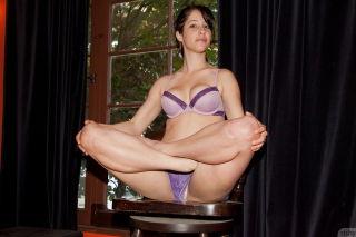 Hot girl Krista Ellman teasing in her sexy lingeri