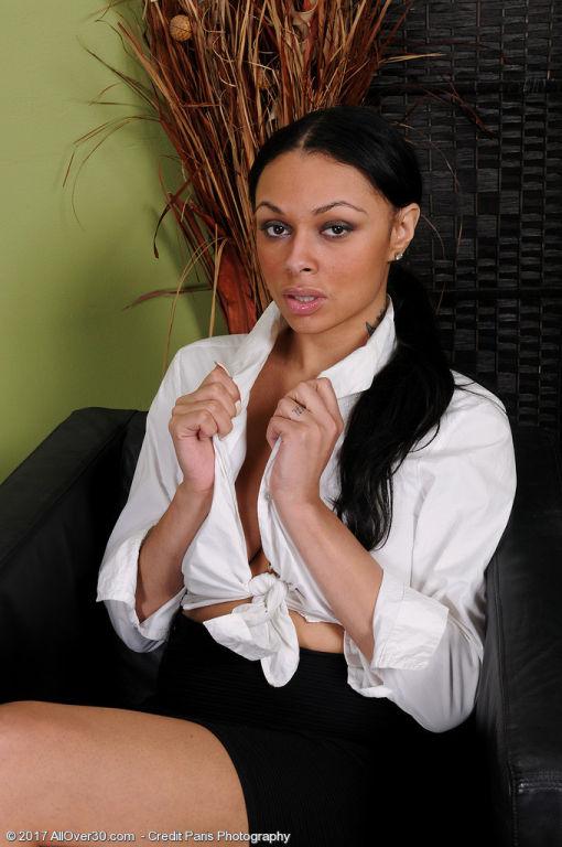 Sexy secretary Bethany Benz