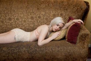 Beauty girl Lauren WK teasing in her lingerie