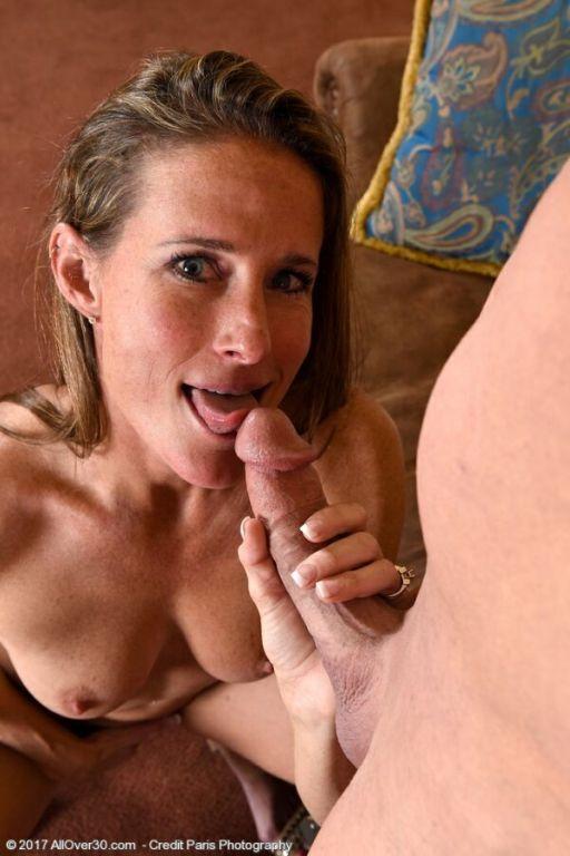 Sofie Marie svelte milf sucks and fucks