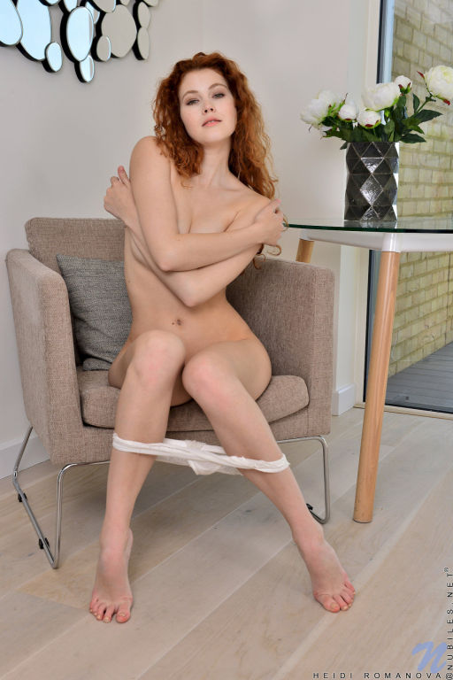Young lady Heidi Romanova set Natural Redhead by N