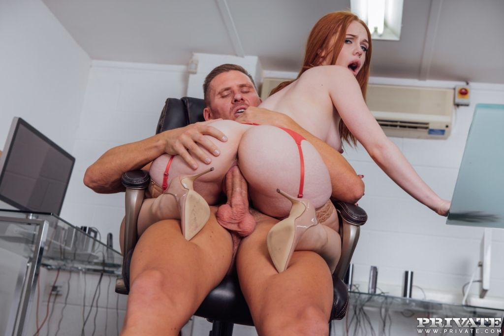 Ella Hughes earns her job by fucking with Boss