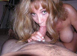 Hot mom next door blowjob and swallows cum