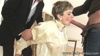 All about MILF Lady Sonia gagging on a hard boner