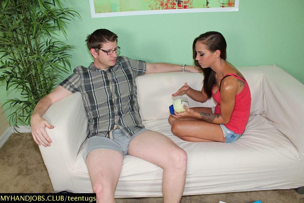 Sasha Foxx giving sweet handjob