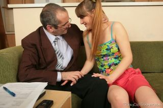 Teen student Alena seduced and fucked by tricky ol