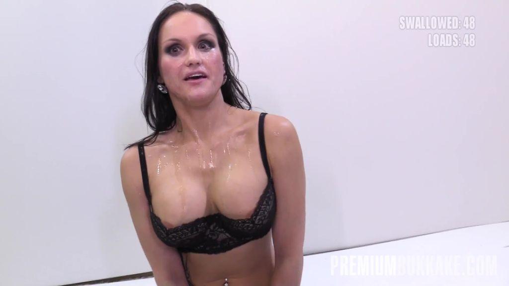Czech babe swallows 48 cum loads