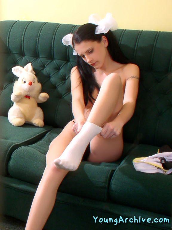 Teenie schoolgirl nude posing