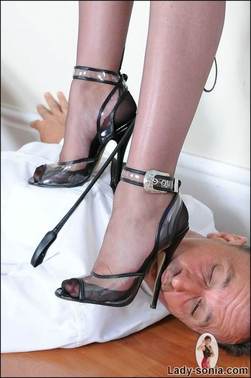 Poor guy gets his face trampled by the high heels