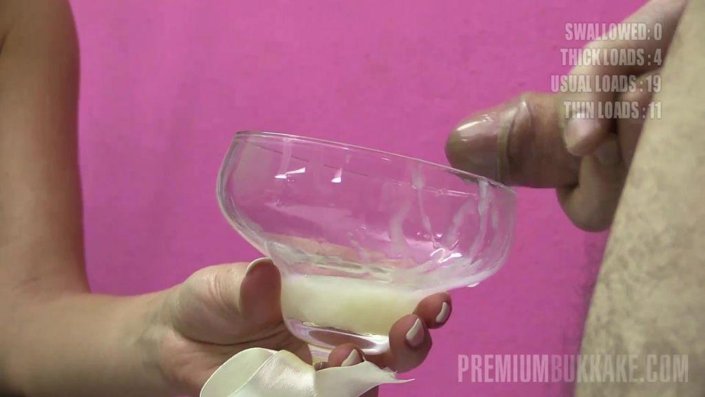 Eva drinks 71 cum loads