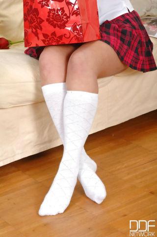 nude Bijou uniform foot