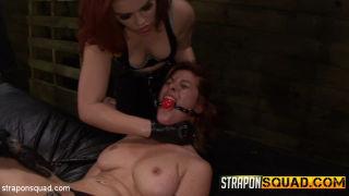 Pain Sub Slut Alessa Snow Endures Lesbian Dominati