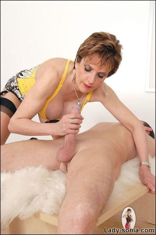 Nasty Lady Sonia make pain sucking his cock but ne