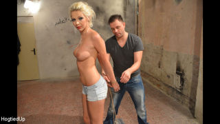 Bondage rigger is giving Karol a classic session,