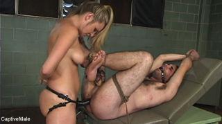 Harmony Evaluates Oscar Beyer with Brutal Cock Tor