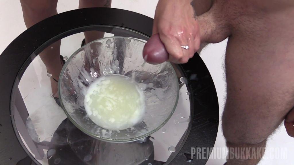 Jane drinks sperm cocktail