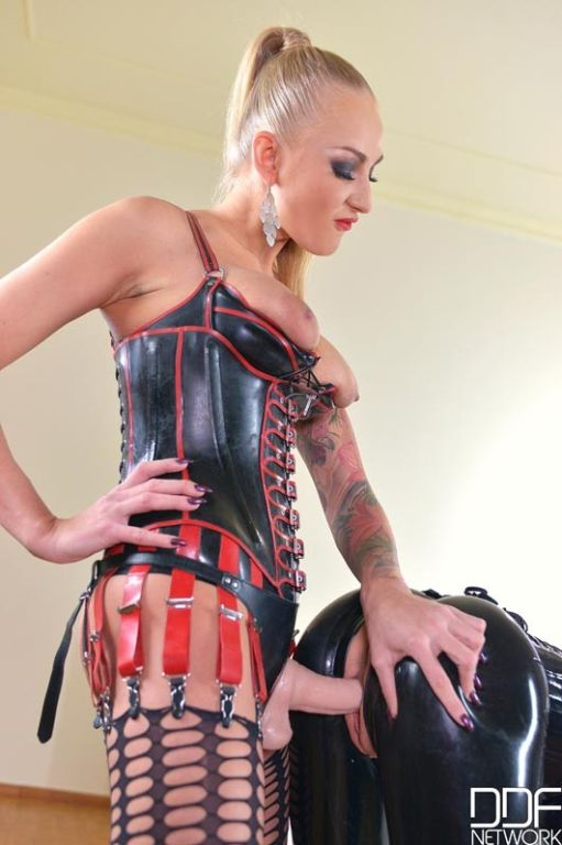 Latex Lucy's punishment continues as her Mistres