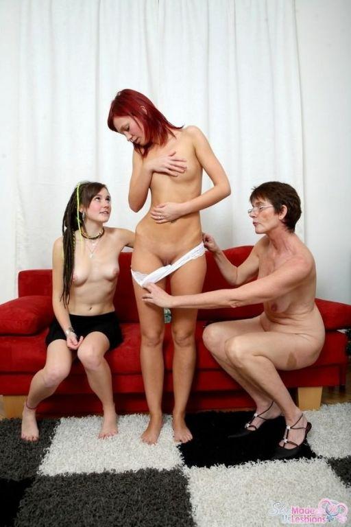Lesbian mature teacher seducing teen Anna Flames w