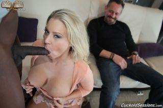 Wife Katie Morgan enjoys a black cock hardcore act
