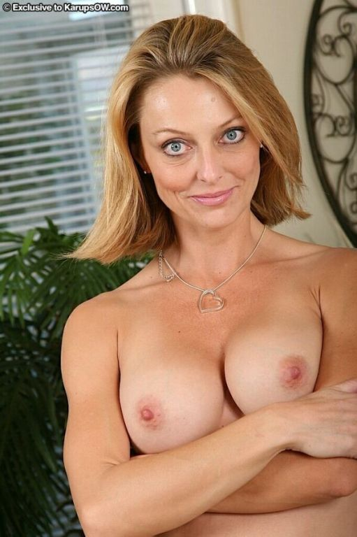 Brenda James busty milf blonde strips and poses po