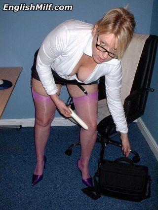 Blonde big titted secretary Daniella English toyin