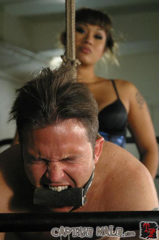 Blindfolded sex slave