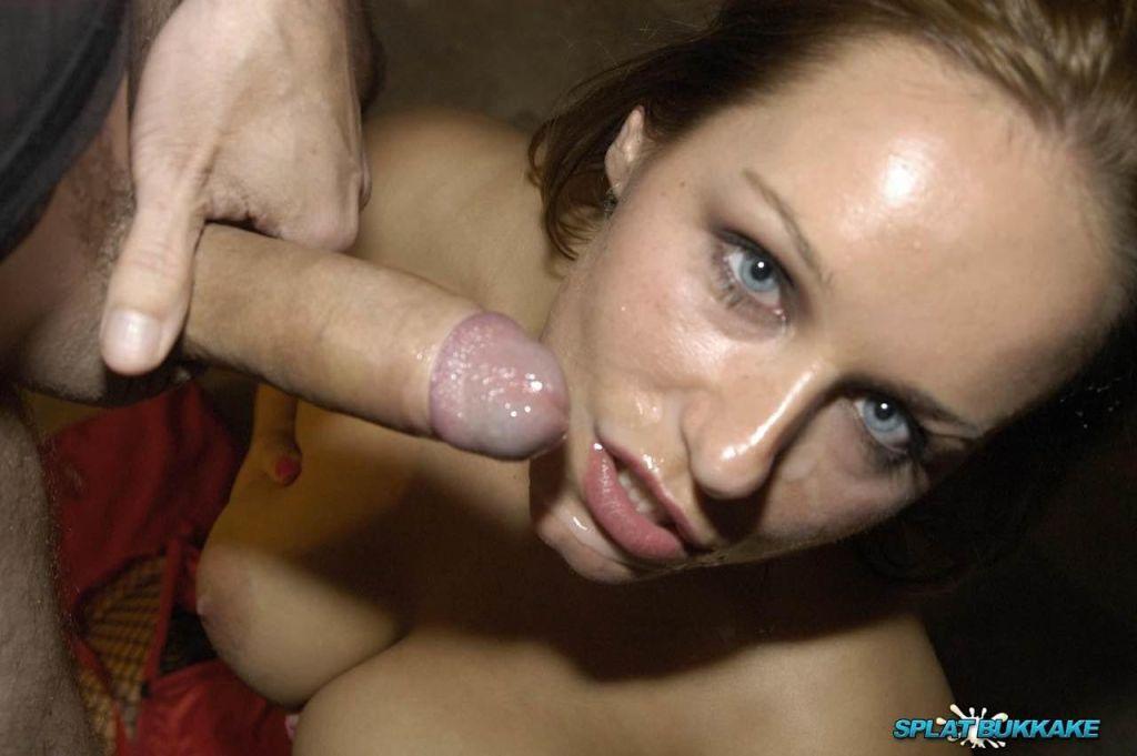 Sexy Scot Ashley Rider loves bukkake party facials