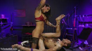 Chelsea Marie pounds pervert panty boy slut!